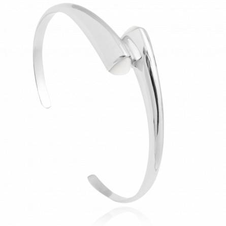 Bracelet femme argent Posedia blanc
