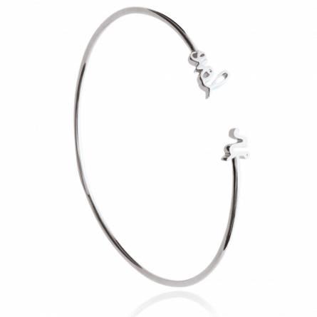 Bracelet femme argent Texte In Love