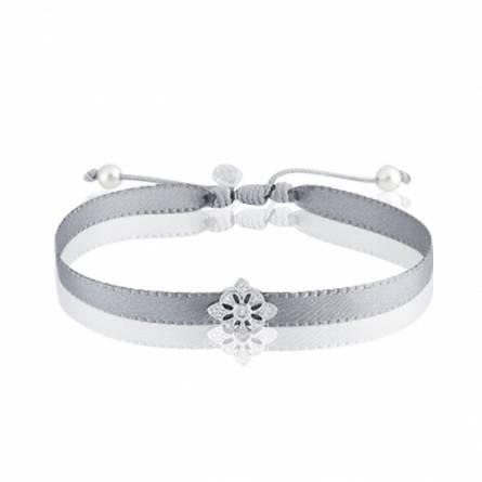 Bracelet femme fils-cordon Ediana gris