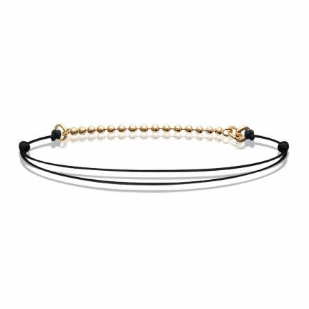 Bracelet femme fils-cordon Idakaia noir