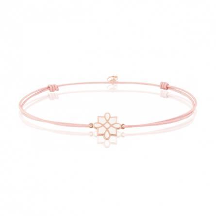 Bracelet femme fils-cordon Lantesia rose