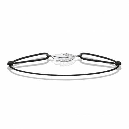 Bracelet femme fils-cordon Laome noir