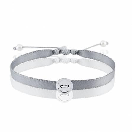 Bracelet femme fils-cordon Polyasa gris
