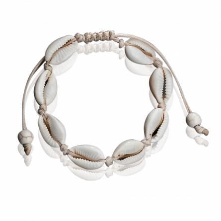 Bracelet femme fils-cordon Seashell reglable