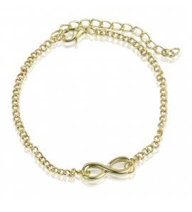 Bracelet femme métal doré Infini métal doré infini