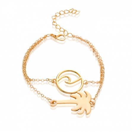 Bracelet femme métal doré Sea & Palm 2
