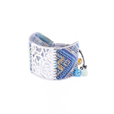 Bracelet femme perle Blossom bleu