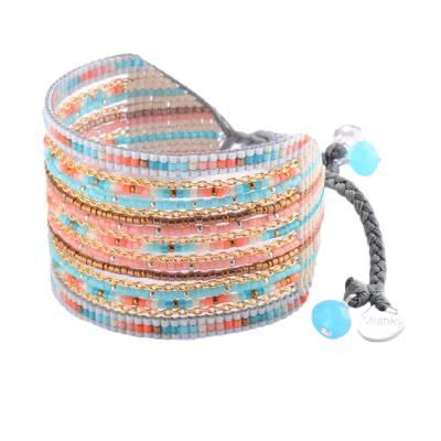 Bracelet femme perle Cristal multicouleur