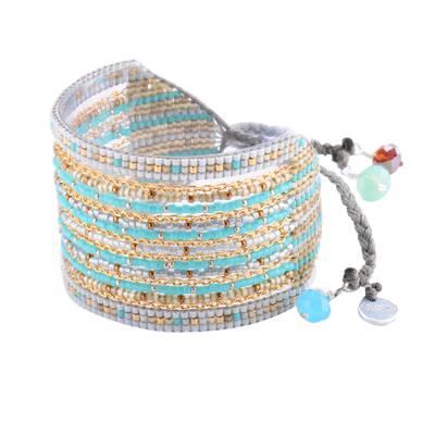 Bracelet femme perle Cristal vert