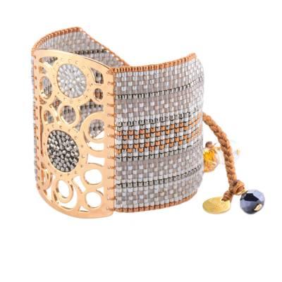Bracelet femme perle Dream Catcher gris