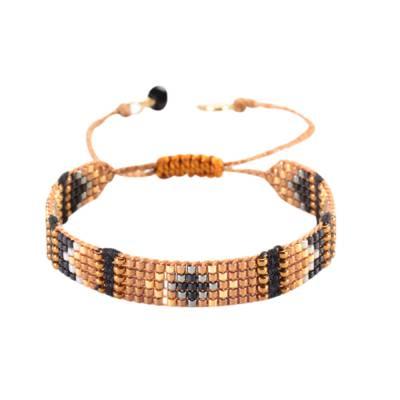 Bracelet femme perle marron