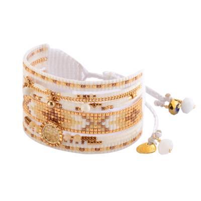 Bracelet femme perle Medly blanc