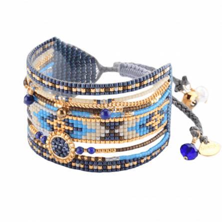 Bracelet femme perle Medly bleu