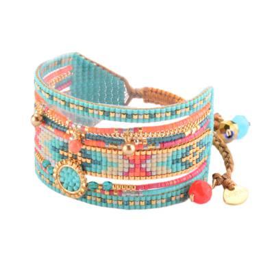 Bracelet femme perle Medly turquoise