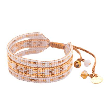 Bracelet femme perle Melange blanc