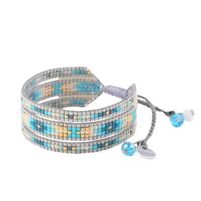 Bracelet femme perle Melange turquoise