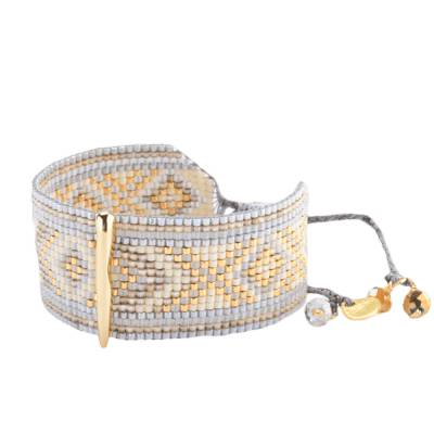 Bracelet femme perle Melted Bar jaune