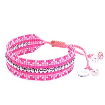 Bracelet femme perle Metzi rose