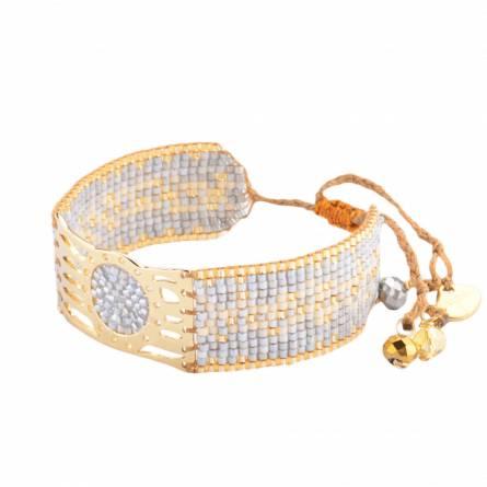 Bracelet femme perle Misty neutral