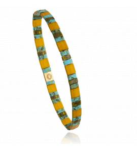 Bracelet femme perle Mitaya 20 jaune