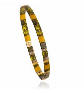 Bracelet femme perle Mitaya 21 jaune