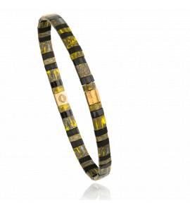 Bracelet femme perle Mitaya 22 jaune