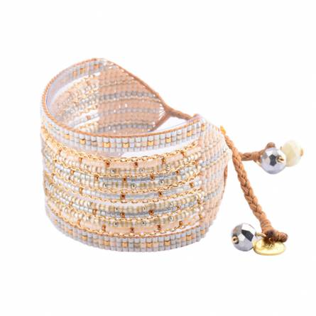 Bracelet femme perle neutral
