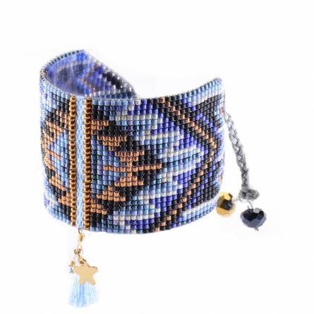 Bracelet femme perle noir