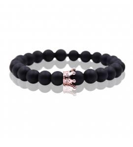 Bracelet femme perle Queen 4 noir