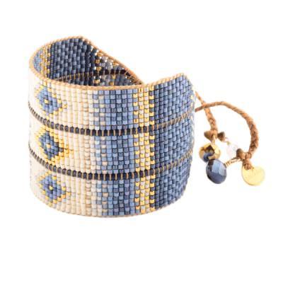 Bracelet femme perle Rays beige