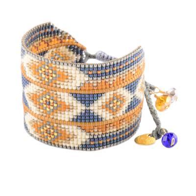 Bracelet femme perle Rays bleu