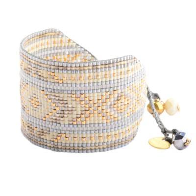 Bracelet femme perle Rays gris