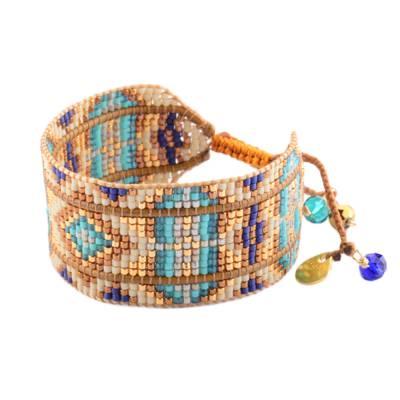 Bracelet femme perle Rays marron