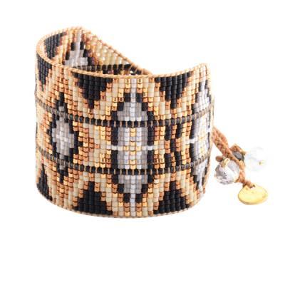 Bracelet femme perle Rays noir