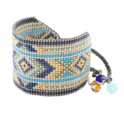 Bracelet femme perle Rays turquoise