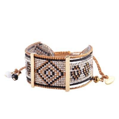 Bracelet femme perle Rio neutral