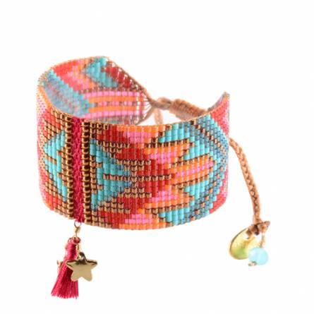 Bracelet femme perle rouge