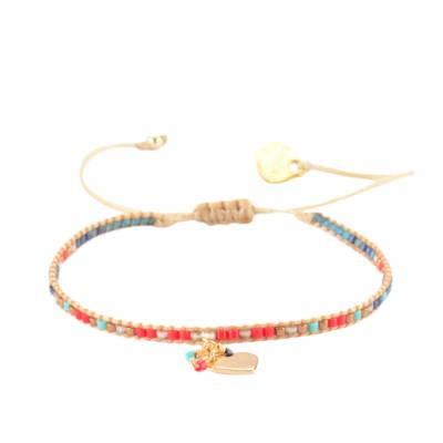 Bracelet femme perle Row Heart multicouleur