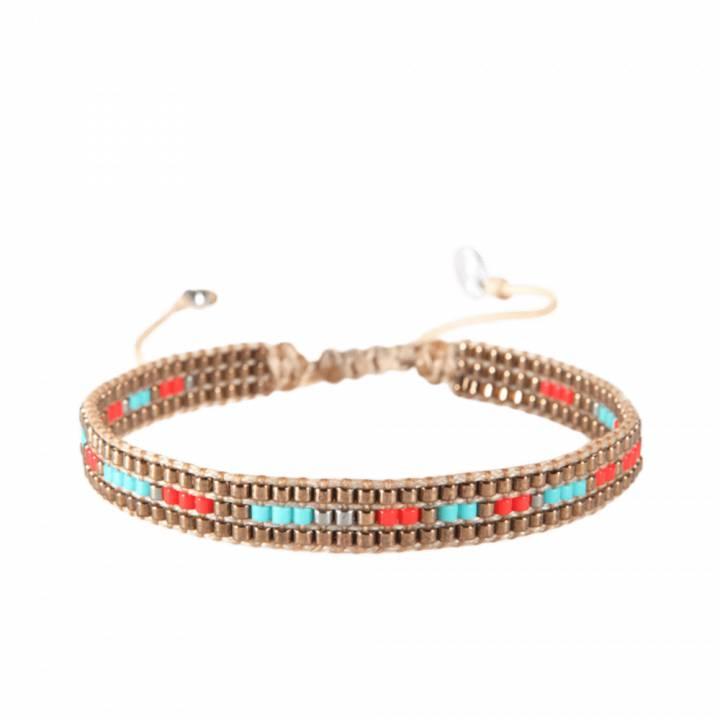 énorme réduction e60ca 0c8f9 Bracelet femme perle Track marron