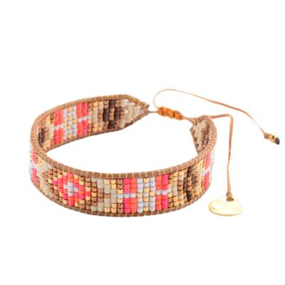 Bracelet femme perle Track marron