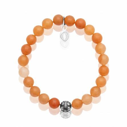 Bracelet femme pierre Aventurine orange