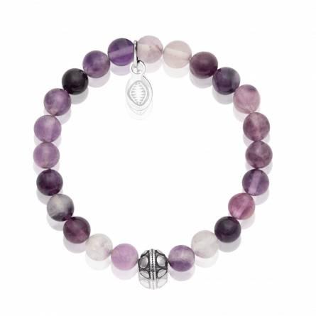 Bracelet femme pierre Fluorite violet