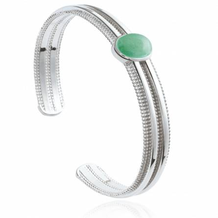 Bracelet femme pierre Nahly vert