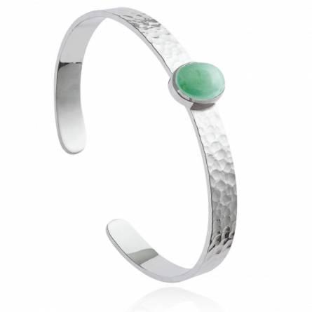 Bracelet femme pierre Navia vert