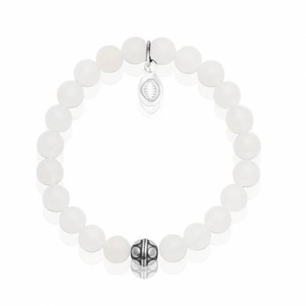 Bracelet femme pierre Pierre de Jade blanc