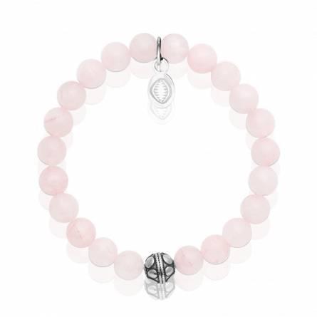 Bracelet femme pierre Quartz 2 rose