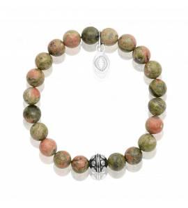 Bracelet femme pierre Unakite 2