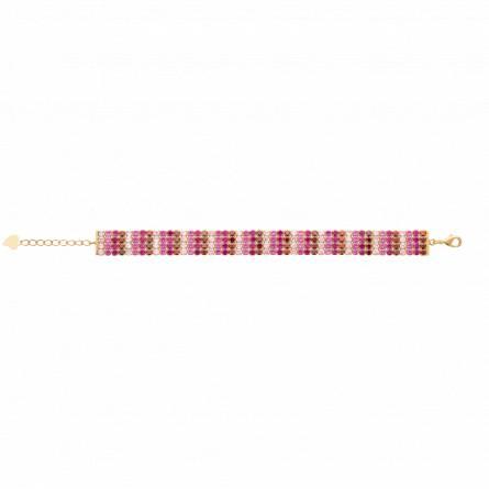 Bracelet femme plaqué or Lousia rose