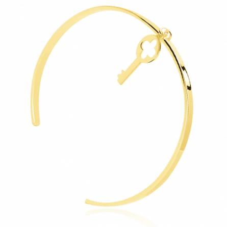 Bracelet femme plaqué or Segar clé