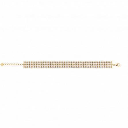 Bracelet femme plaqué or Wendis